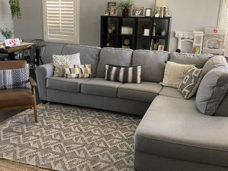 Living Spaces Lucy Grey Sectional for Sale in Long Beach,  CA