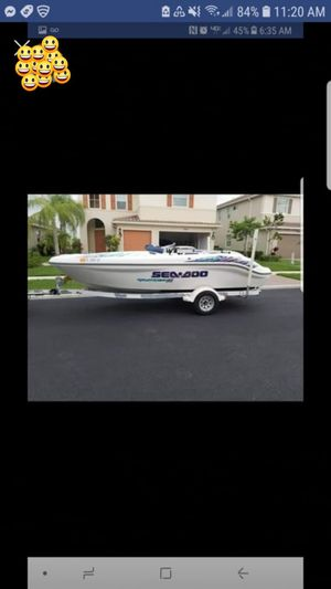 SEADOO, speed boat, aluminum trailer, sell as it! for Sale in Pompano Beach, FL