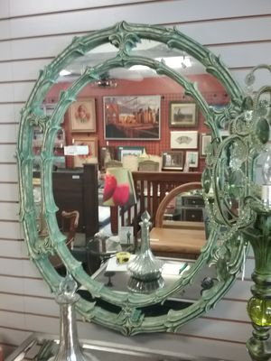 Ornate Large Green Oval Mirror $80 for Sale in Hatboro, PA
