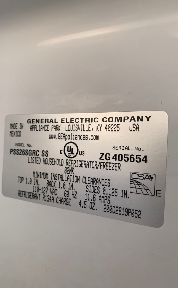 GE Profile Energy Star 25.5 Cuft. Stainless Steel