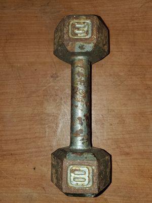 (1) 8LB Metal Hex Dumbbell for Sale in Rockledge, FL