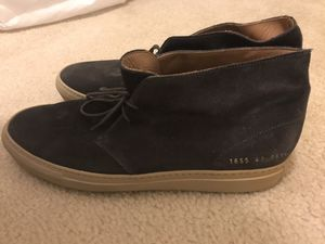 Common Projects leather suede dark purple (size 10, 43) for Sale in Vienna, VA