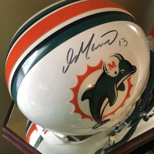Authentic Dan Marino Signed Full Size Helmet With Glass UV Protective Case for Sale in Catawissa, PA