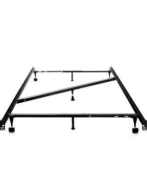 New in box, MALOUF Structures Heavy Duty Adjustable Metal Center Support and Rug Rollers bed frame, Queen, Full XL, Full, Twin XL, Twin! Awesome Deal for Sale in Henderson, NV