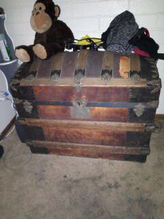 Old chest and chair....originals from 1800s for Sale in Vancouver, WA