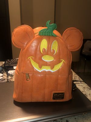 Disney Loungefly Mickey Pumpkin Bag Mini Backpack Not So Scary Halloween Party Disney Parks for Sale in Davie, FL