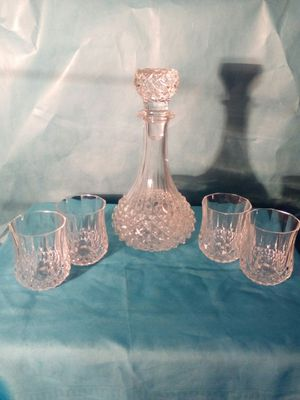 Cristal d' Argues whiskey decantor with 4 tumblers. for Sale in Spokane, WA