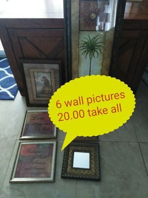 😁 6 tropical wall art pictures,$20 cheap👍 for Sale in Lauderdale-by-the-Sea, FL