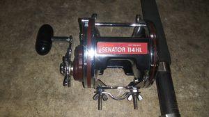 Penn Senator II 114HL Deep Sea Fishing Reel & Pachawk Rod. for Sale in North Las Vegas, NV
