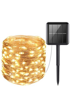 Solar String Lights, 33ft 100LED Outdoor for Sale in Lutherville-Timonium, MD