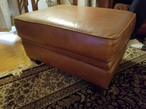 Leather sofa with ottoman for Sale in Annandale, VA