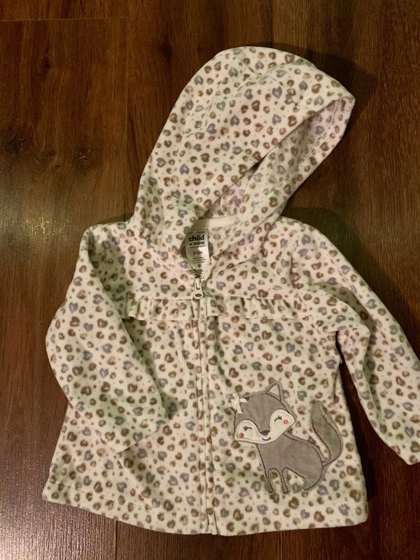Carter's Baby Girl Fleece Zip Up Jacket 3-6 Months