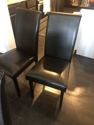 Set of 4 chairs, dark brown $200 for Sale in Baltimore, MD