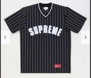 Supreme Pinstripe Baseball Jersey for Sale in Torrance, CA