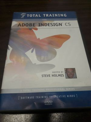 Adobe Indesign CS Total Traning 5 Disks from Steve Holmes for Sale in Los Angeles, CA