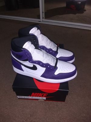 AIR JORDAN 1 HIGH OG COURT PURPLE SIZE 9.5 for Sale in Vacaville, CA
