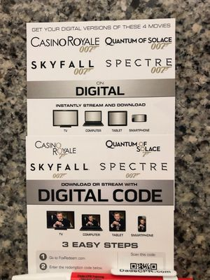Brand new Daniel Craig collection digital codes for Sale in Dania Beach, FL