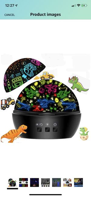 Boys Gifts for 3-4 Year Old Boys,Dinosaur Boys Gifts for Age 5 6 7+, Car Toys for Toddlers Kids Night Light Projector Lamp,Birthday Gifts for Boys,Ch for Sale in Brooklyn, NY