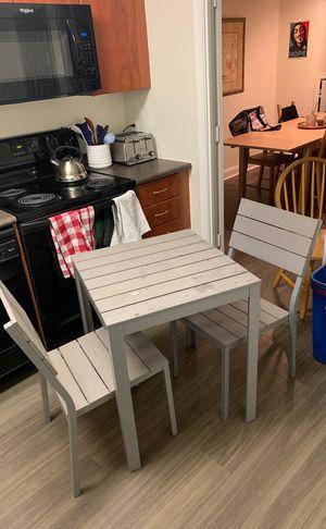 Ikea silver metal outdoor furniture set for Sale in Arlington, VA