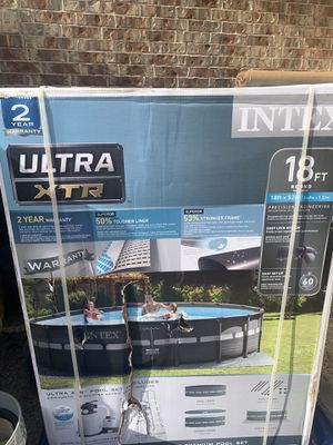 Brand New Intex 18 x 52 Ultra XTR Pool for Sale in Round Rock, TX