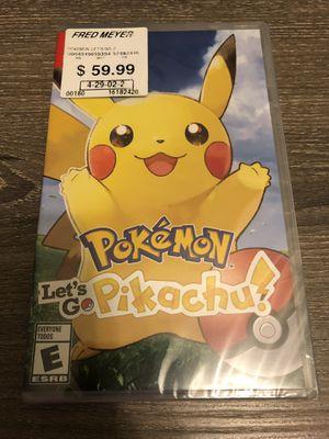 Pokémon Let's go Pikachu Nintendo Switch for Sale in Lynnwood, WA