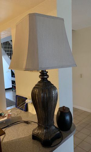 Bronze Lamp with Shade for Sale in Pembroke Pines, FL