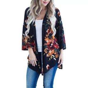 Women's Vintage Loose Blouse Summer Boho Floral Printed Long Sleeve Coat Retro Summer Autumn Ladies Shawl Kimono Cardigan Tops for Sale in Orlando, FL