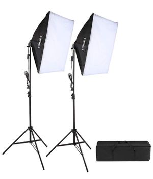 Photography Studio Soft Box Lighting Kit with Tall Background Stand 6X9 ft Green Background for Sale in Windermere, FL