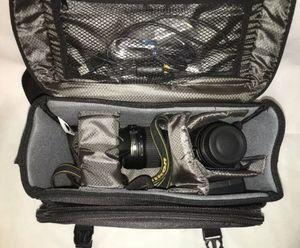 Nikon D3200 DSLR Camera 18-55mm & 55-200mm Lenses + Nikon Bag for Sale in Tampa, FL