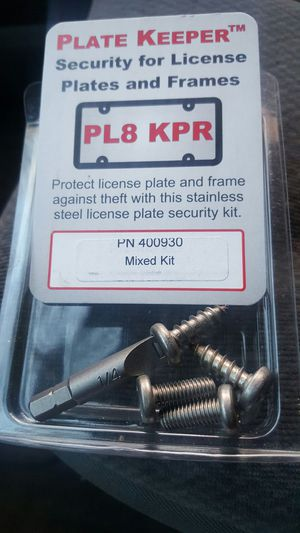 Used, Car dealer license plate security screws for Sale for sale  Brooklyn, NY