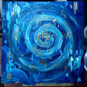 SPIRALING DOWN original painting for Sale in Culver City, CA