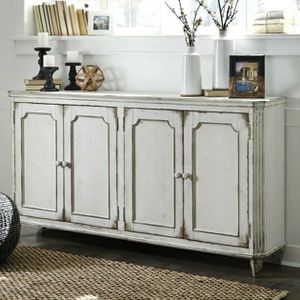 $39 DOWN Mirimyn Antique White Accent Cabinet 🚚SAME DAY DELIVERY /ın stock for Sale in Silver Spring, MD