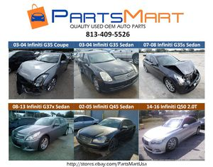 Infiniti G35 Coupe Sedan G37x Q45 Q50 Used OEM Parts for Sale for Sale in Tampa, FL
