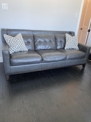 Contemporary Genuine Leather Sofa for Sale in Hurst, TX