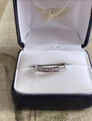Platinum Filled CZ White Enamel Ring Sz8 for Sale in Ada, MI