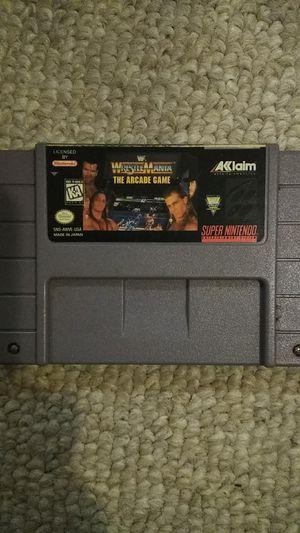 Super Nintendo WWF WrestleMania the Arcade Game for Sale in Elkridge, MD