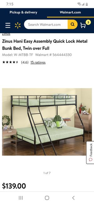 Bunk bed twin over full, mattresses included for Sale in Irvine, CA