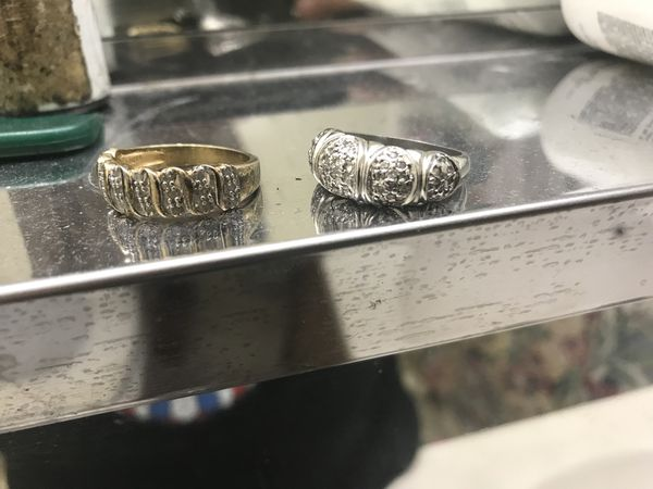 Two rings 925 silver wit gem stones