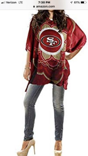 Brand New Women's San Francisco 49ers Sheer Cover NFL Caftan Apparel One Size Mother's Day for Sale in West Covina, CA