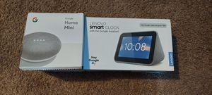 Google Home Mini & Lenovo Smart Clock for Sale in Lorain, OH