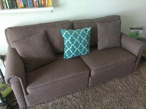 Sofa one year brown good cond for Sale in Dublin, OH