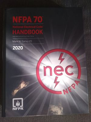2020 NFPA 70 Electrical Codes, NFPA 70 Handbook for Sale in Richmond, CA