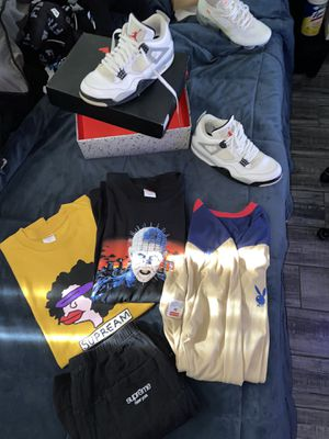 Supreme and Jordan 4 white cements for Sale in Mesa, AZ