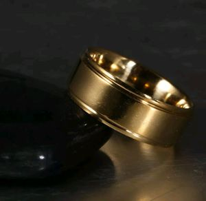 Brand new men's 10MM wide 18KT Gold Titanium wedding band wedding ring engagement ring promise ring or everyday ring for Sale in New Port Richey, FL