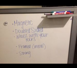Professional Dry Erase Magnetic Board -double sided-on wheels for Sale in Miami Gardens, FL