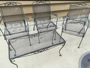 Wrought iron table and chairs for Sale in Charleston, WV