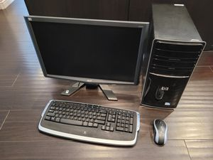 Acer 21.6 LCD HP Desktop Dual Core Logitech Wireless Keyboard & Mouse for Sale in Temple City, CA
