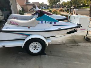 I have 2 jetski whit trailer for sale clean title all 3 for Sale in Rancho Santa Margarita, CA