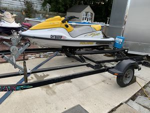 Double place trailer with Polaris jetski for Sale in Toledo, OH