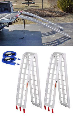 New $115 Pair 7.5ft Aluminum Motorcycle Folding Loading Ramp Street Dirt Bike 1500Lbs Rated for Sale in Montebello, CA